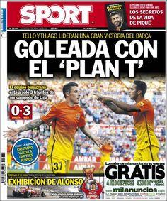 Los Titulares y Portadas de Noticias Destacadas Españolas del 15 de Abril de 2013 del Diario Deportivo Sport ¿Que le parecio esta Portada de este Diario Español?