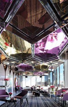 Stunning interior design at Mon Bijou Level 10 Adelphi Hotel, Melbourne… Design Hotel, Bar Interior Design, Küchen Design, Restaurant Design, Design Ideas, Hotel Lounge, Bar Lounge, Lobby Lounge, Architecture Design