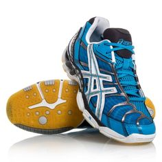 Asics Gel Volley Elite - Womens Volleyball Shoes - Blue White Black 4552b182a6d2d