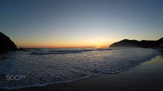 Anamecer en Berria - Amanecer en la playa de Berria Santoña Cantabria España