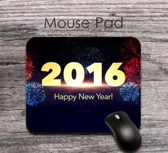 funny long 2016 new year wishes mouse pad - funny 2016 new year wishes mouse mat - office decor
