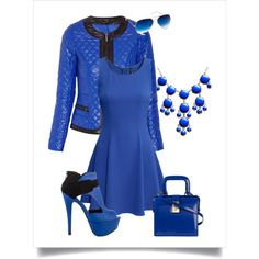 Day in blue by chicmisses on Polyvore featuring H&M, Morgan, Qupid and Dsquared2