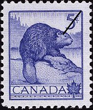 Issued in 1954 for National Wildlife Week (yep! only a week) this Canada stamp features a big brown beaver (which according to the group Primus is called Wynona) although she does look sad and blue, rather than brown, here. Might just be a porcupine! Canadian Memes, Canadian History, Wildlife Week, Wildlife Art, North American Beaver, Newfoundland And Labrador, Thinking Day, Rare Coins, Mail Art