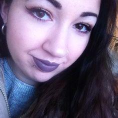 Makeup du jour 🙌 j'adore ce RAL 😍 #grey #greylips #lips #lipstick #matte #mattelipstick #mac #maccosmetics #cosmetics #motd #lotd #makeup #makeupoftheday #instamakeup #makeupaddict #look #lookoftheday #beauty #instabeauty #brunette #loveit #fall #winter