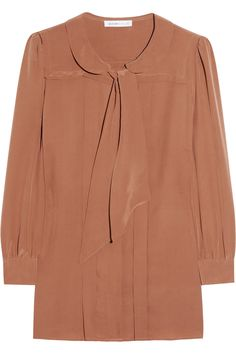 I'm trying so hard to wear more than neutral colors, but I can't help but love this see by chloe mushroom colored blouse.