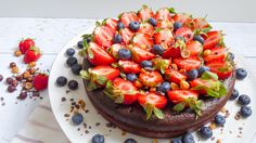 Flourless Chocolate Cake with Hazelnut Almond Crust Recipe | The Nosher