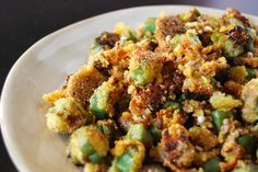 My grandmother would fry okra (lightly battered) in a cast iron skillet. Okra would have this great crispy texture to it. Okra Recipes, Cooking Recipes, Easy Cooking, Recipies, Vegetable Side Dishes, Vegetable Recipes, Southern Fried Okra, My Favorite Food, Favorite Recipes