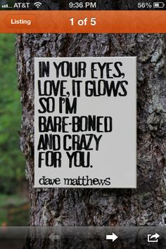 Favorite DMB quote