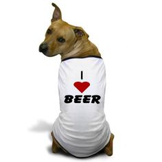 CafePress  I Heart Beer Dog TShirt  Dog TShirt Pet Clothing Funny Dog Costume *** Click on the image for additional details.