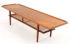 Danish Modern Teak Coffee Table with Shelf