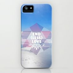 Some fashionable inspiration and new trends for your online birthday or christmas shopping spree. Endless love quotation geometric typography iPhone & iPod Case by Little Smilemakers Studio - $35.00