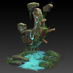 第五期实体班作业01 Fantasy Concept Art, 3d Fantasy, Game Concept Art, Fantasy Landscape, Game Design, Prop Design, Environment Concept Art, Environment Design, Game Environment