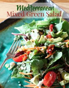 Mediterranean Mixed Green Salad