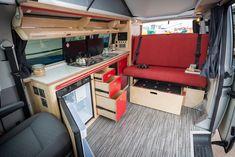 VW camper maximum storage