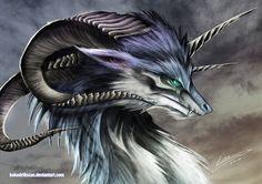 Wolf Dragon by *kokodriliscus on deviantART