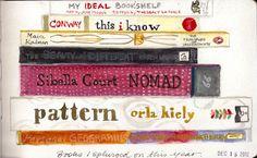 Ideal Bookshelf - books I splurged on this year. Okay .... LOVE the idea of turning it into an art piece!!!