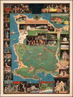 California's Seventeen Mile Drive Map
