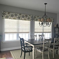 Custom Made to Order Box Pleat Valance Using Your Fabric Modern Window Treatments, Valance Window Treatments, Window Treatments Living Room, Window Coverings, Curtains With Attached Valance, Box Pleat Valance, Box Pleats, Dining Room Windows, Kitchen Windows