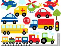 Free+cliparttrains | Clipart - Trains Planes Cars and Trucks | Meylah