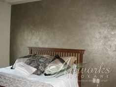 three color metallic venetian plaster wall finish