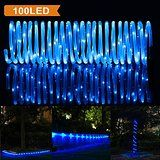 LTE 33ft 100 LED Solar Rope Lights Outdoor Waterproof Solar Rope Lights Ideal for DecorationsChristmasGardens... christmas deals week