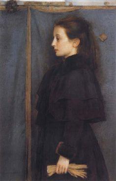 Portrait of Jeanne de Bauer, Fernand Khnopff
