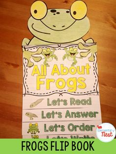 Frogs Flip Book- reading, writing, and comprehension activities for the animal- includes life cycle information Improve Reading Comprehension, Comprehension Activities, Frog Activities, Lifecycle Of A Frog, Second Grade Science, Frog Life, Kindergarten Science, Animal Books, Science Projects