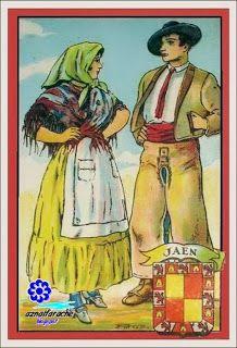 Trajes típicos de Andalucía, Jaén . Colección Amatller | aznalfarache
