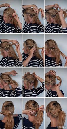 12 причесок с косой и хвостом | GLAMUSHA.ru
