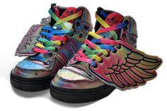 online store 46f81 92a66 Adidas Originals Jeremy Scott Wings Rainbow