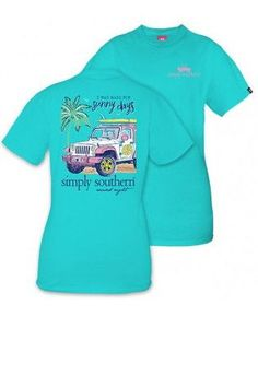 """Simply Southern """"Sunny Days"""" Tee- Teal from Chocolate Shoe Boutique"""
