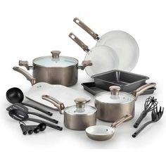T-fal 18-Pc Ceramic Cookware Set - Walmart.com  Black Friday 2015 @ $49.00