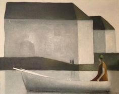 Albert Bertelsen, Denmark 1921., Sailing on Lake Castle -1973.