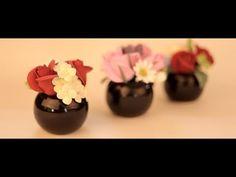 Küçük Saksılara Sanat Kili ile Çiçek Yapımı - YouTube