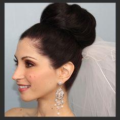 Wedding Hair with veil #Bun