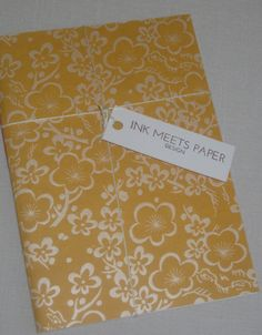 Notebook Sewn Spine Pearlized Flowers on by inkmeetspaperdesign, $10.00