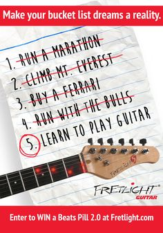 The Fretlight Guitar is the World's Best Guitar Learning System. Lights in the neck show you where to put your fingers to play chords, scales, songs and riffs! It's the FASTEST and EASIEST way to learn to play guitar! #fretlightguitar #learntoplayguitar www.fretlight.com