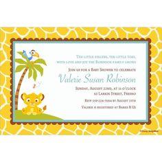 Custom Lion King Baby Shower Invitations