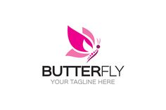 Butterfly Logo by LogoVibe on Creative Market
