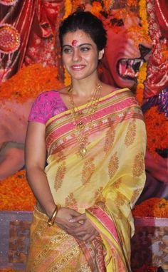 Kajol at a Durga Puja pandal in Mumbai.