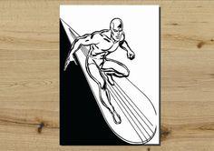 A3 40cm x 30cm Marvel Comics SIlver Surfer Comic by HallofHeroes