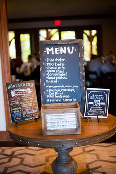 wedding menu chalkboard