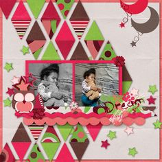 Sleeping - Scrapbook.com -- I like the triangles shaped into one large chevron.