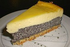 Mohn - Schmand - Cake by Mexican Christmas Food, Traditional Christmas Food, Christmas Food Treats, Holiday Desserts, Big Cakes, Food Cakes, Cake Recipes, Snack Recipes, Dessert Recipes