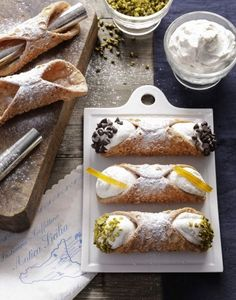 Print Recipe Sicilian cannoli Prep minsCook minsTotal mins Course: DessertsCuisine: Healthy and gourmet meal idea, Healthy eatingKeyword: Cheese, Desserts, Great classics, Recipes of the world Calories: g For about 20 g g Softened… Continue Reading → Italian Desserts, Köstliche Desserts, Italian Recipes, Delicious Desserts, Dessert Recipes, Yummy Food, Gourmet Recipes, Sweet Recipes, Cookie Recipes