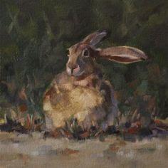 """Flop Ear Jackrabbit"" - Original Fine Art for Sale - © Pamela Poll"