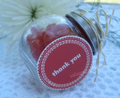 Set of 9 Thank You Favors by SalaamCards on Etsy, $23.00