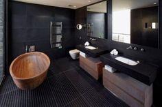 家居色彩大不同 黑色卫浴装修效果图