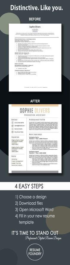 Transform your old resume into a modern version Very simple just - copy a resume