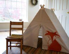 Replier A Frame jouer tente pour enfants - Orange Fox